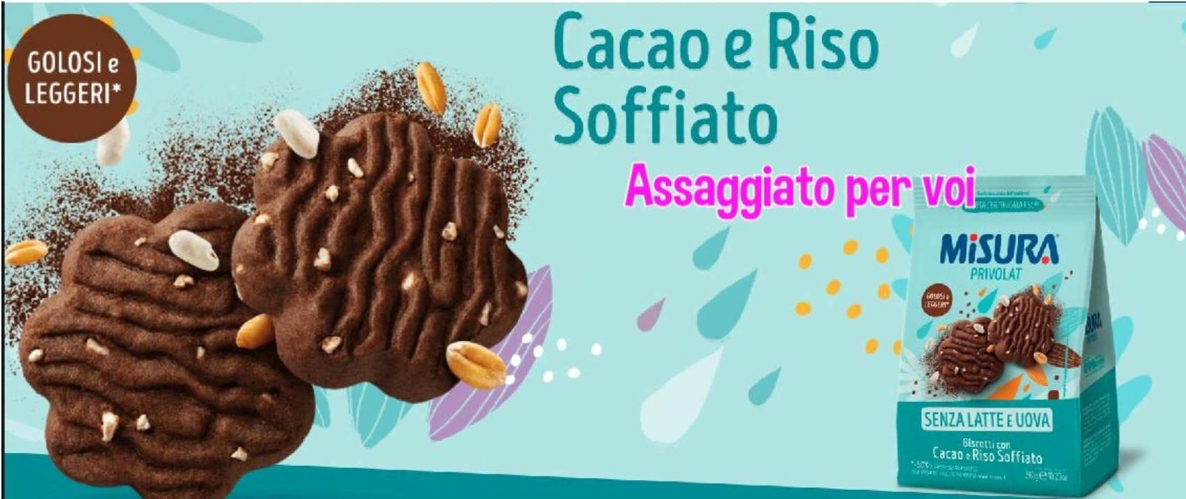 assaggiato per voi biscotti misuta cacao riso soffiato