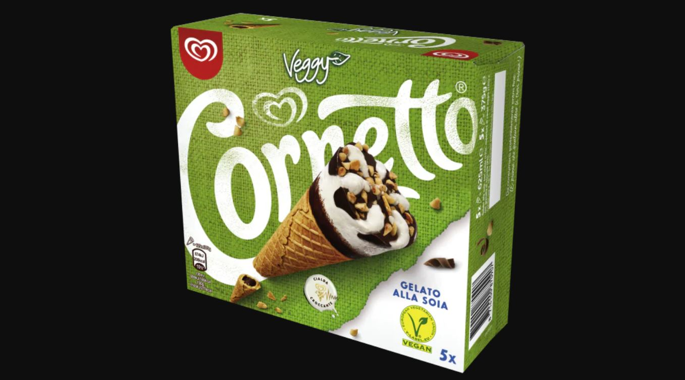 cornetto algida veggy senza glutine e senza lattosio