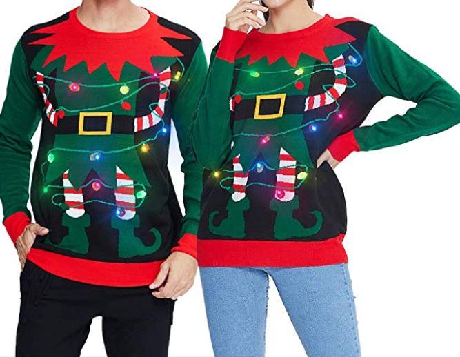 maglioni natalizi che si illuminano
