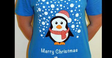 maglietta con il pinguino