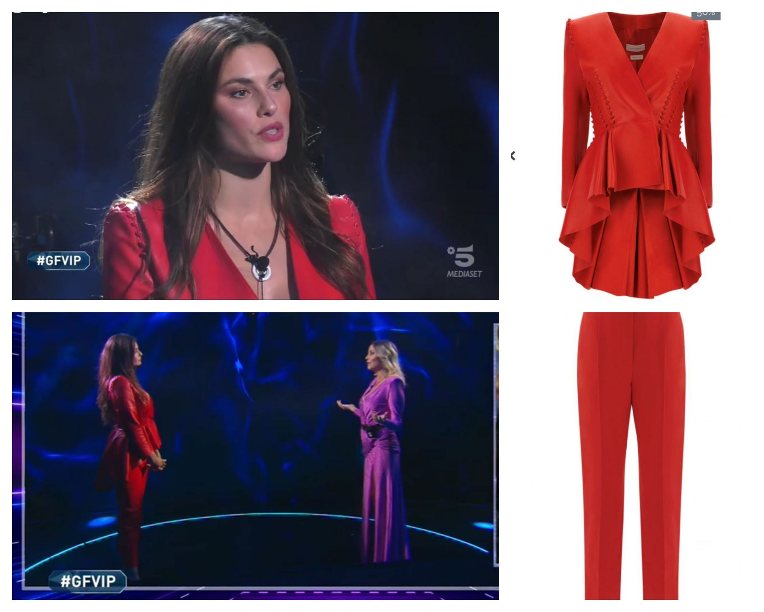 look dayane mello in rosso scaled