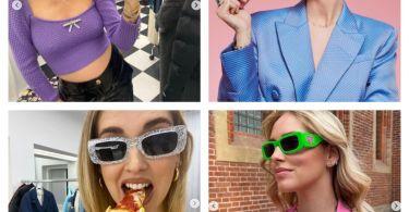 quanto costano occhiali da sole chiara ferragni