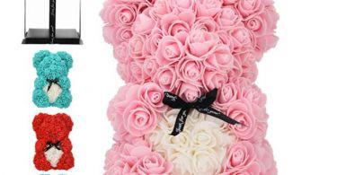 orso fatto con le rose