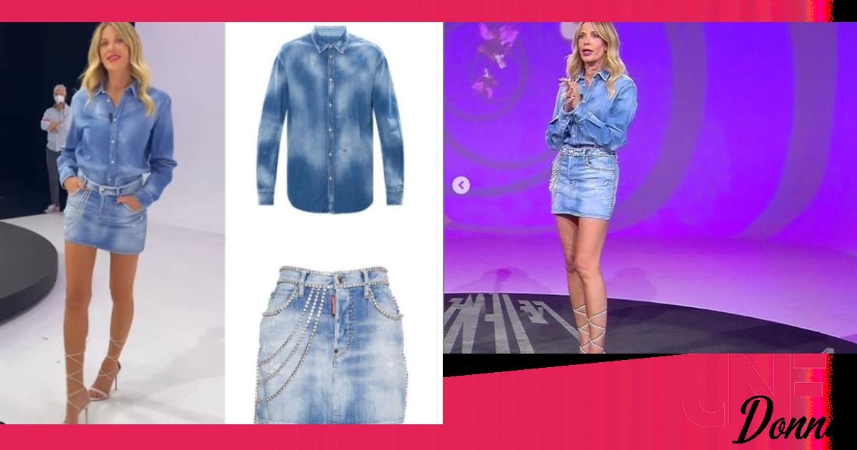 look alessia marcuzzi le iene jeans