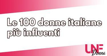 donne italiane piu influenti