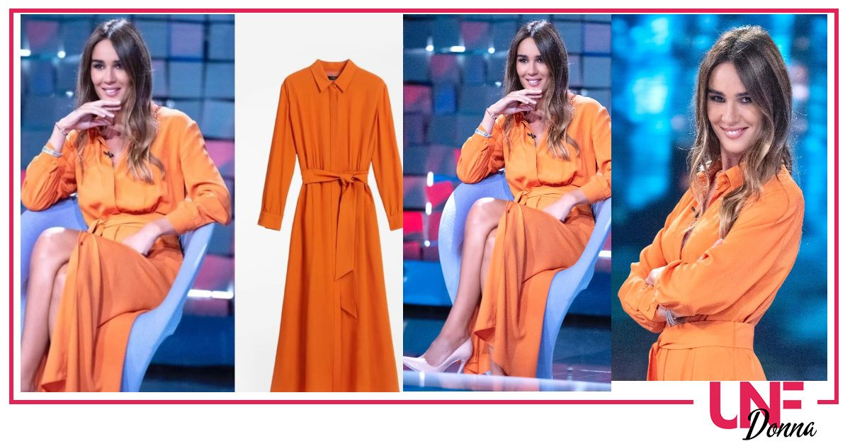 look silvia toffanin abito arancio max mara