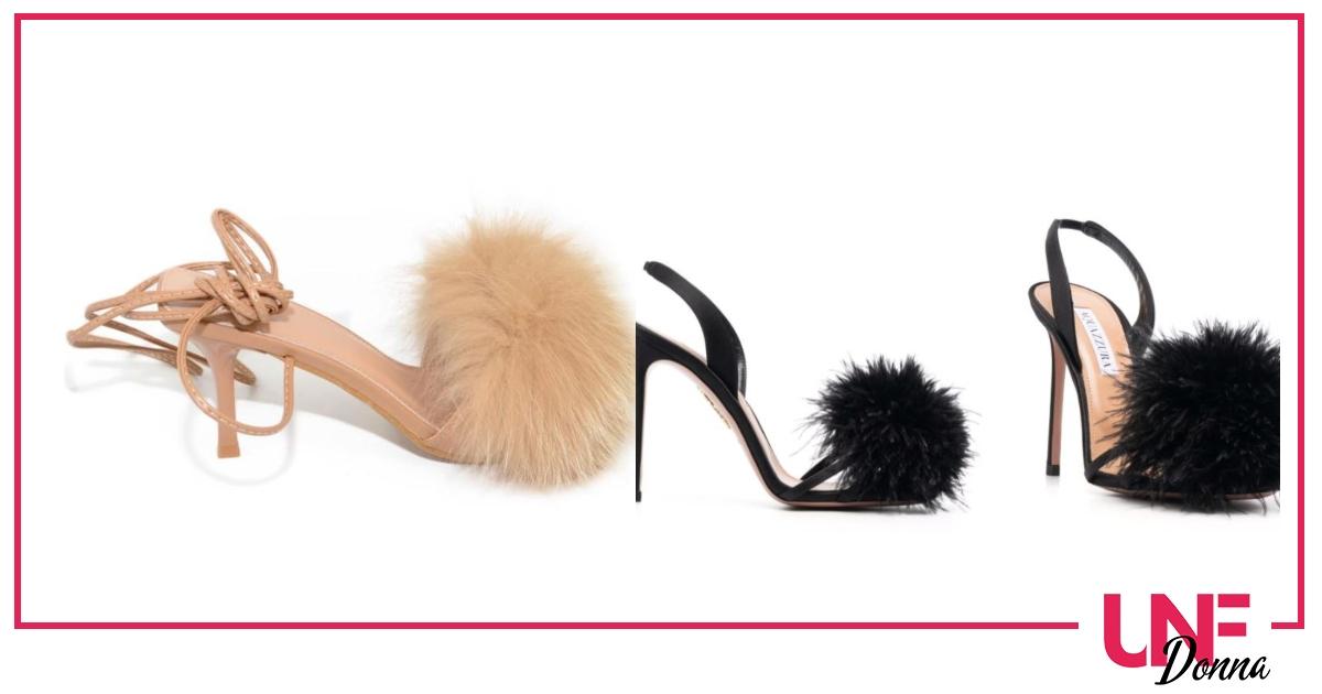 scarpe con il pelo